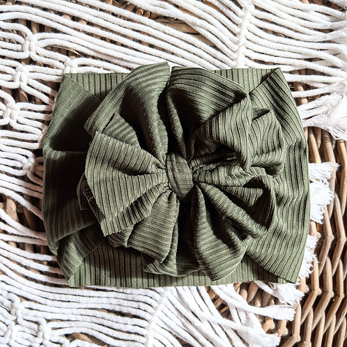 Ribbed Knit Hunter Green
