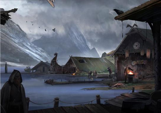 Village by night