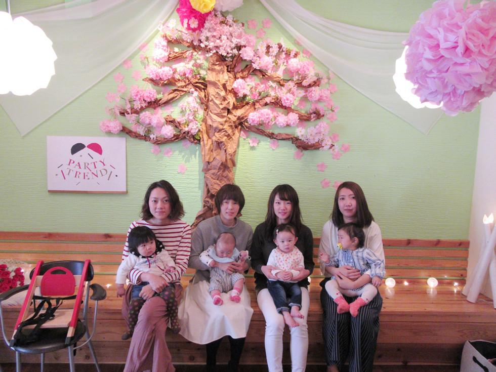 桜満開っ!!貸切でママ友のママ会、加古川からご来店^^
