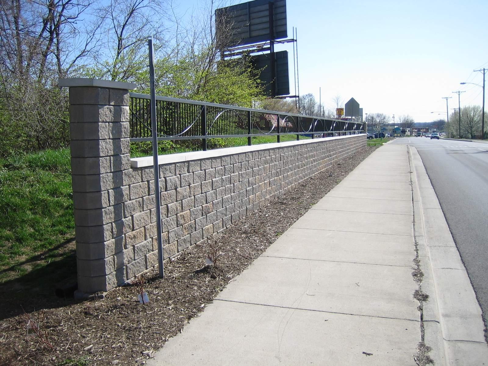 Allen Block Courtyard Wall
