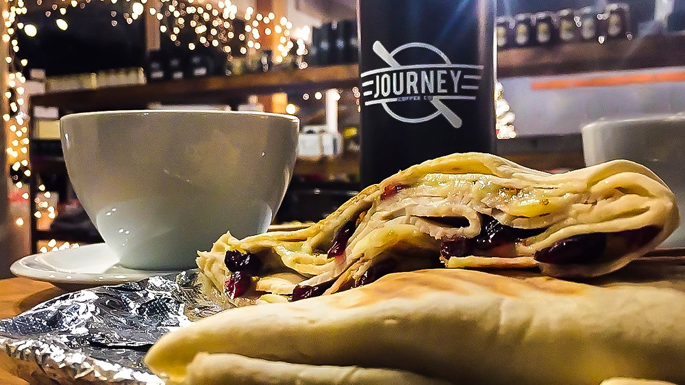 Holiday atmosphere, Journey Coffee Co, Vacaville