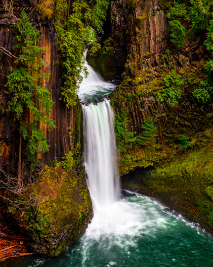 """Appreciation of the Self;"" Toketee Falls, Oregon"