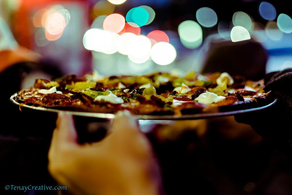 Tony's Napoletana's Gluten-free Pizza with a side of bokeh