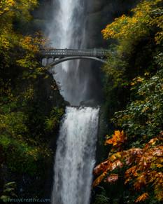 """""""Double Fall;"""" Multanomah Falls, Oregon."""