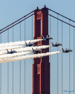 Blue Angels and Golden Gate Bridge