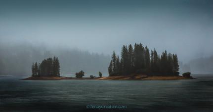 """""""No Man is an Island;"""" Eastern Sierras, California."""