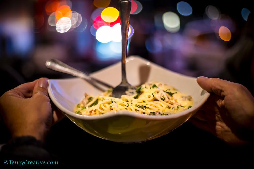 Tony's Napoletana's Gluten-free Pasta with bokeh