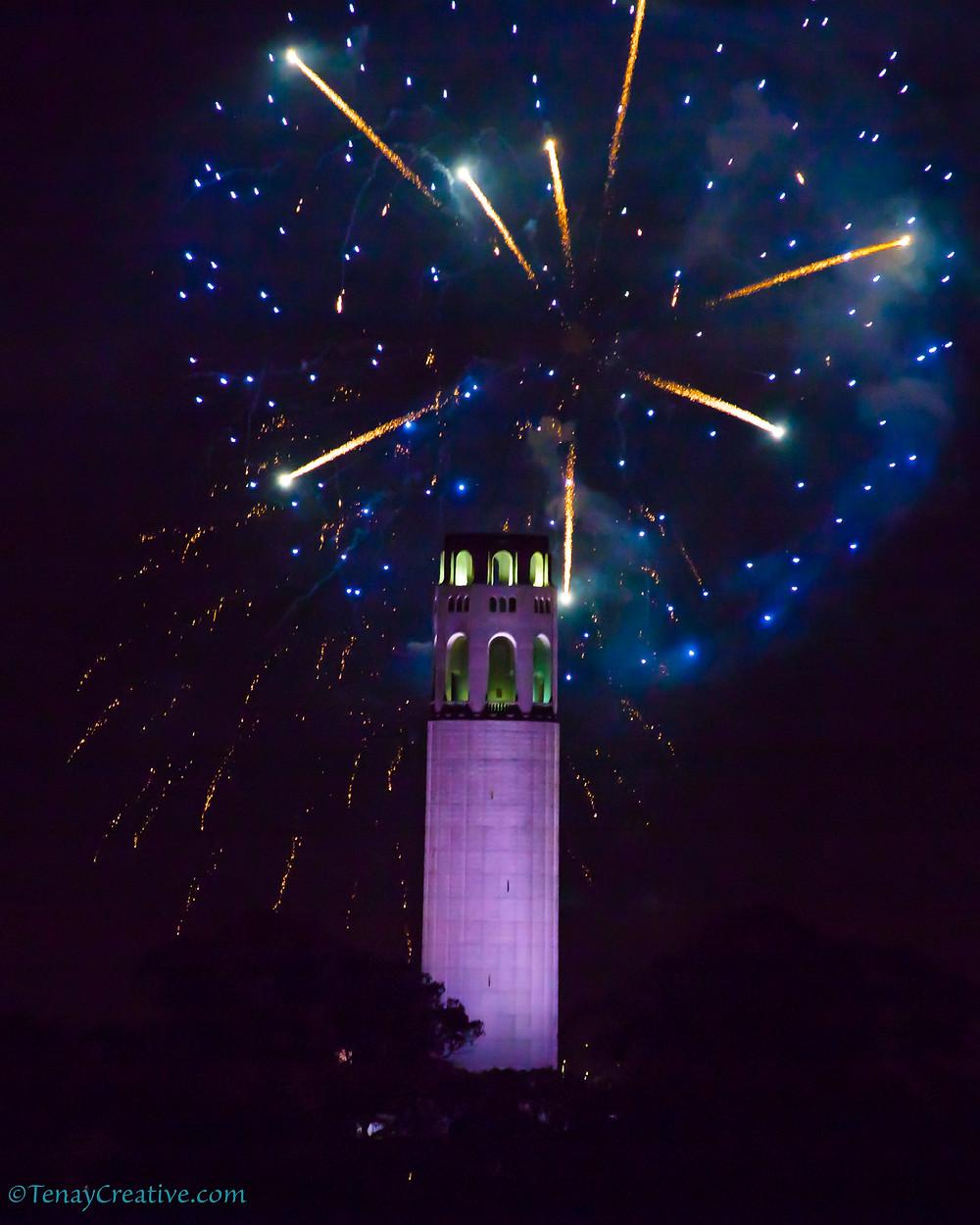 Coit Tower Fireworks San Francisco Fleet Week