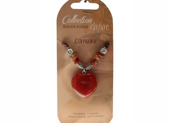 Collier Coeur et perles baroque