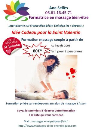 Saint-Valentin offrez-vous une formation au massage en couple