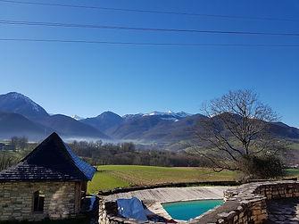 Panorama montagnes Asson Pyrennées