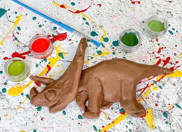 Chocolate  UnNamed Dinosaur Paint 'n' Create Set