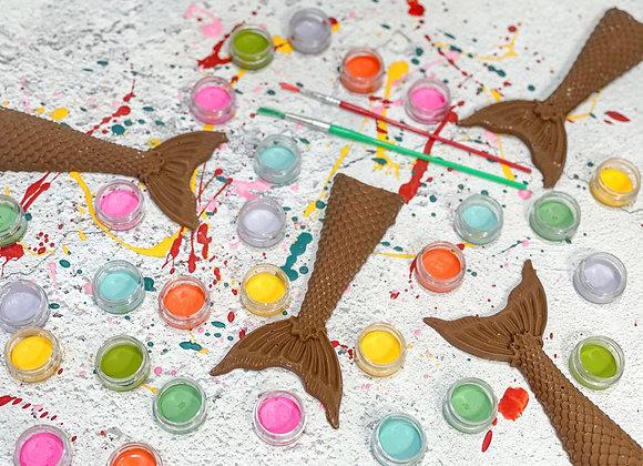 Chocolate Mermaid Tail Paint 'n' Create Set