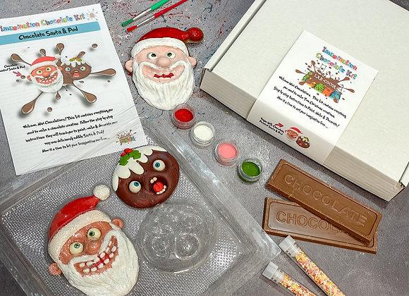 Santa and Little Pud Chocolate Imagination Kit
