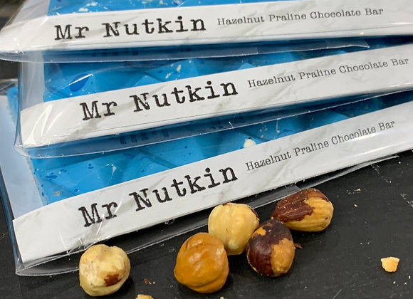 Mr Nutkin- Hazelnut Praline Milk Chocolate Bar