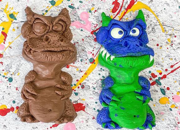 Chocolate Enzo Dragon Paint 'n' Create Set