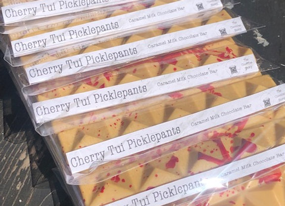 Cherry Tui Picklepants - Caramel White Chocolate Bar