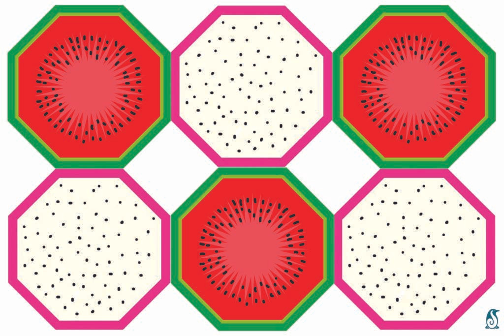 Watermelons & Dragon Fruits