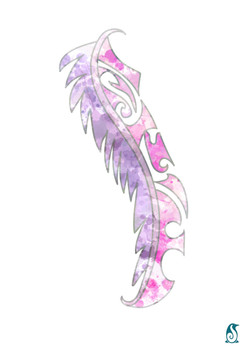 Maori Feather- Pink and Purple