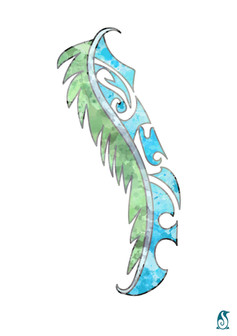 Maori Feather - Blue and Green