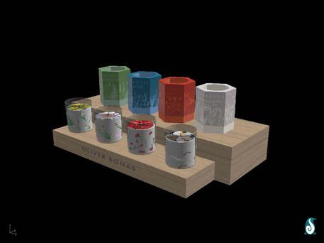 Digital Rendering of Candle designs