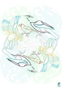 New Zealand birds and Koru's