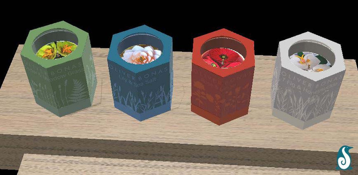 Rendered Candles - Top down mock up