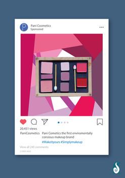Pani Cosmetics - Instagram ad 1