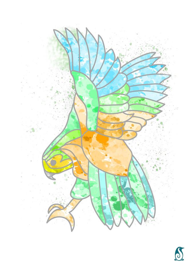 Kia Watercolour painting