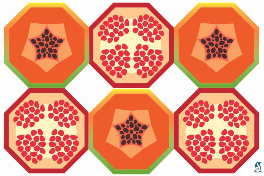 Pomegranates & Papaya
