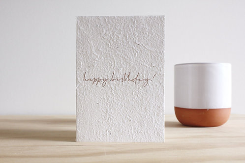 Happy birthday blooming card