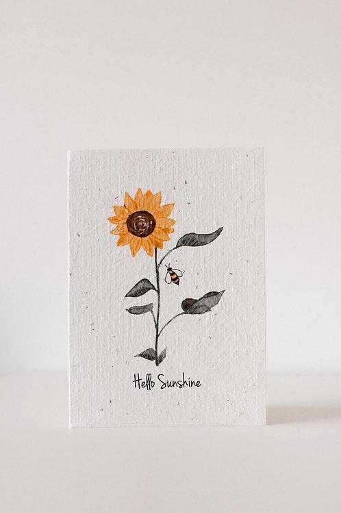 Hello sunshine blooming card