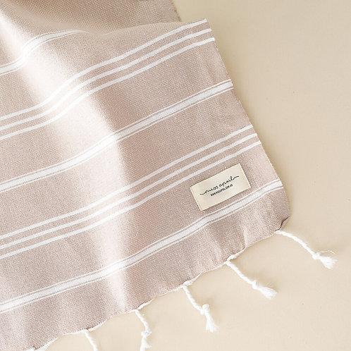 Beige hand towel
