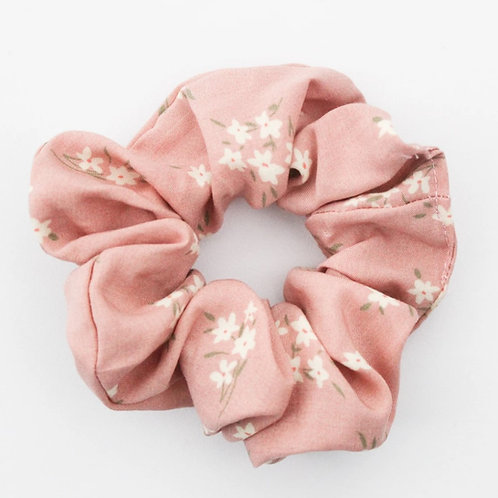 Blush Floral Scrunchie