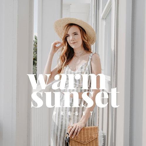 WARM SUNSET DESKTOP