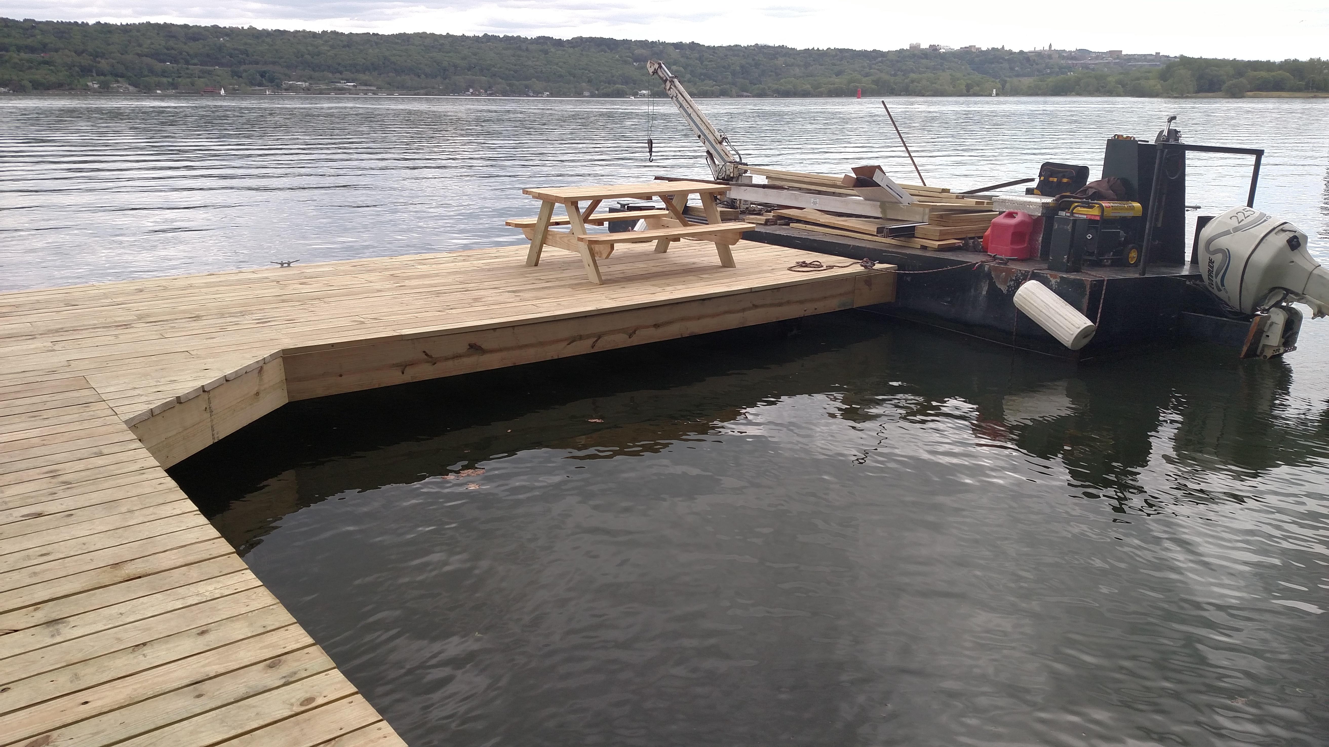 Cayuga Lake Open Pile Dock