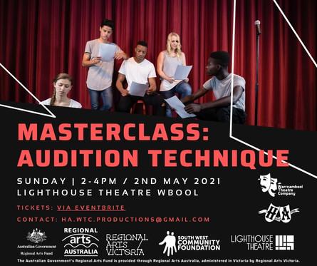 Masterclass: Audition Technique