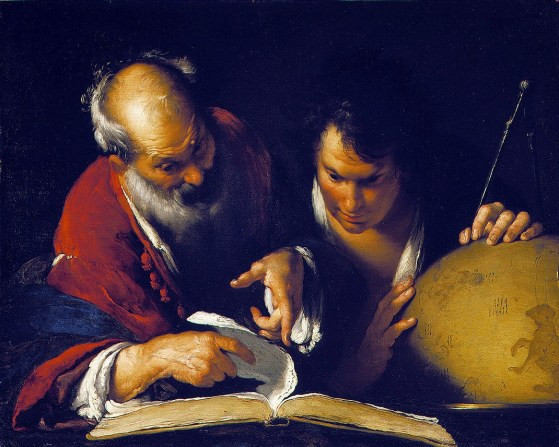 Eratosthenes Teaching in Alexandria (c. 1635) by Bernardo Strozzi (1581-1644)