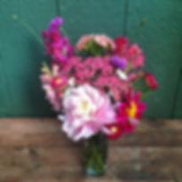 Alaska Peony Flowes Farm Share Bouquet