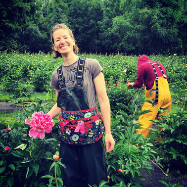 Picking Peonies in the Rain is Fun!