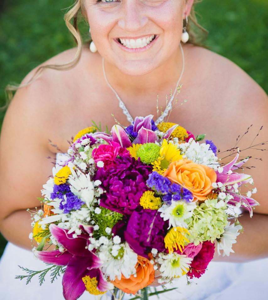 Lisa's Wedding Bouquet with Felix Crousse Peonies