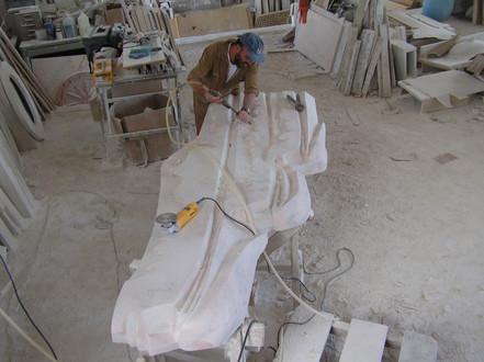 Execução no mármore