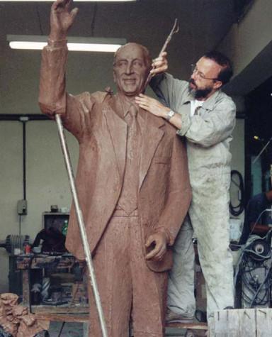 Fase de modelagem em argila