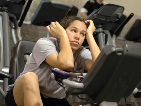 Gym shy...