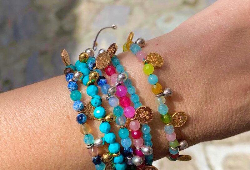 Agate coins bracelet /anklet
