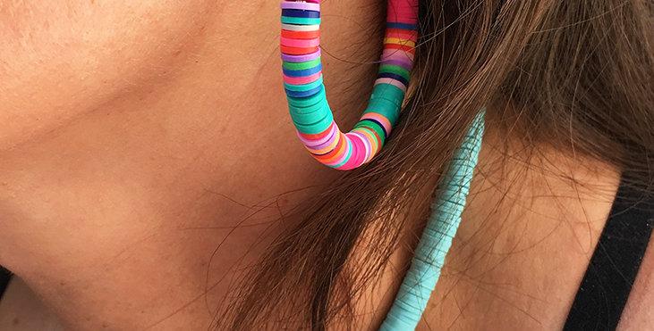 Colorful Beach Bum Earrings