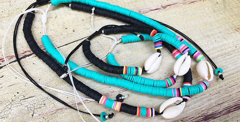 Colorful Beach Bum Anklet