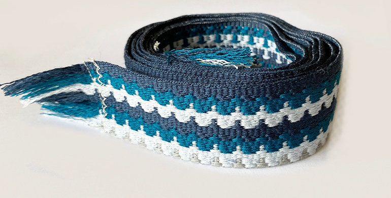 Woven Belt - Blues