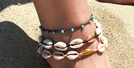 Multi beads anklet