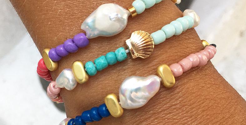 Happy beads Bracelet or Anklet